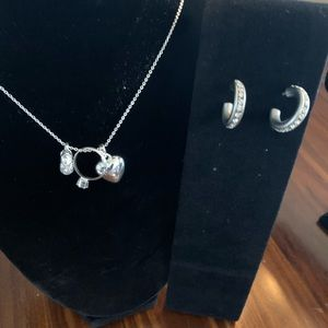 Jewelry - CZ silver Love Marriage Baby necklace & earrings